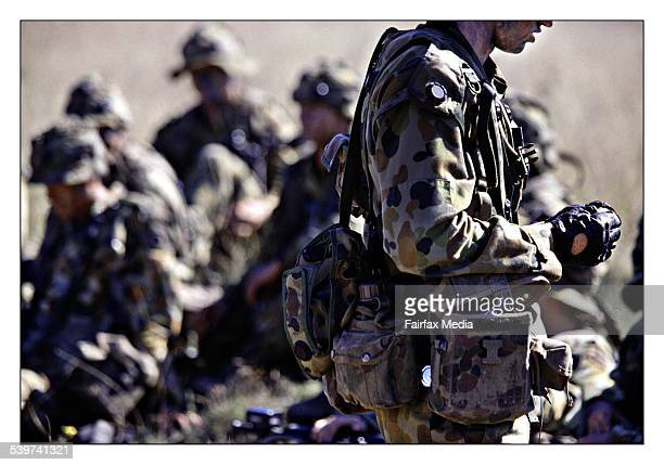 Australian Soldiers training at Singleton army base New South Wales 6 May 2002 AFR Picture by PHIL CARRICK