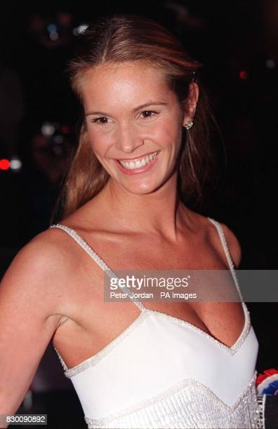 Australian super model Elle MacPherson arrives for tonight's Royal premiere of the film 'Primary Colors' at the Empire Leicester Square See PA story...
