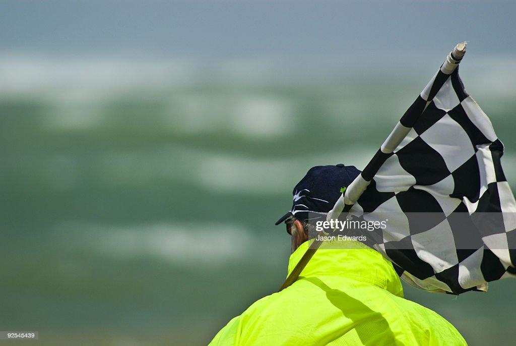 Australian Surfboat Open Titles, Fishermen's Bay, Torquay, Victoria, Australia. : Stock Photo