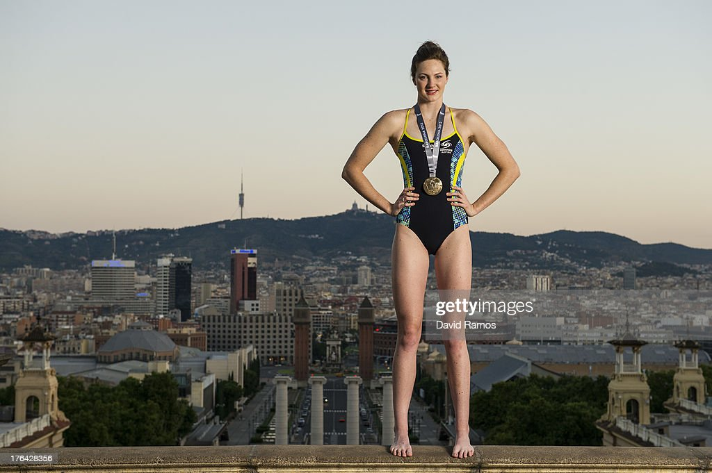 Australian swimmer Cate Campbell poses during a portrait session following the 15th FINA World Championships on August 5 2013 in Barcelona Spain