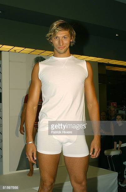 29 OCT 2003 Australian swimming star Ian Thorpe launches his own men's signature underwear range called 'IT' exclusive at the David Jones' stores in...