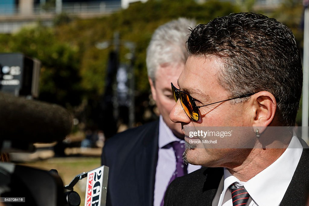 Australian target shooter <a gi-track='captionPersonalityLinkClicked' href=/galleries/search?phrase=Michael+Diamond&family=editorial&specificpeople=209295 ng-click='$event.stopPropagation()'>Michael Diamond</a> arrives at the AOC Executive Board Meeting at Museum of Contemporary Art on June 30, 2016 in Sydney, Australia. Diamond fronts the AOC board in bid for Rio Olympic selection.