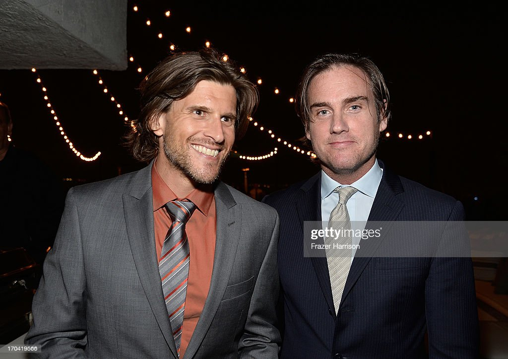 Australian television and radio presenter Osher Günsberg and Australians in Film President Michael Kelleher attend the Australians In Film and Heath Ledger Scholarship Host 5th Anniversary Benefit Dinner on June 12, 2013 in Los Angeles, California.