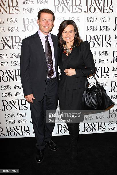 Australian television personalities Karl Stefanovic and Lisa Wilkinson arrive at the David Jones Spring/Summer 2010 Season Launch at David Jones...