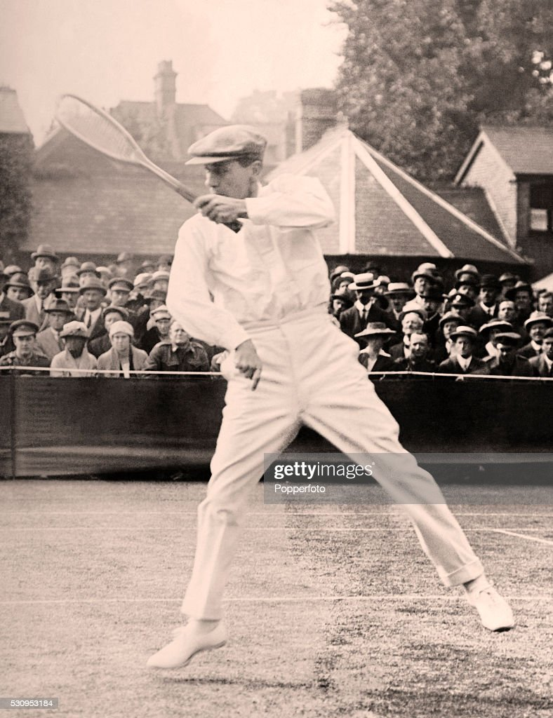Norman Brookes In Action At Wimbledon