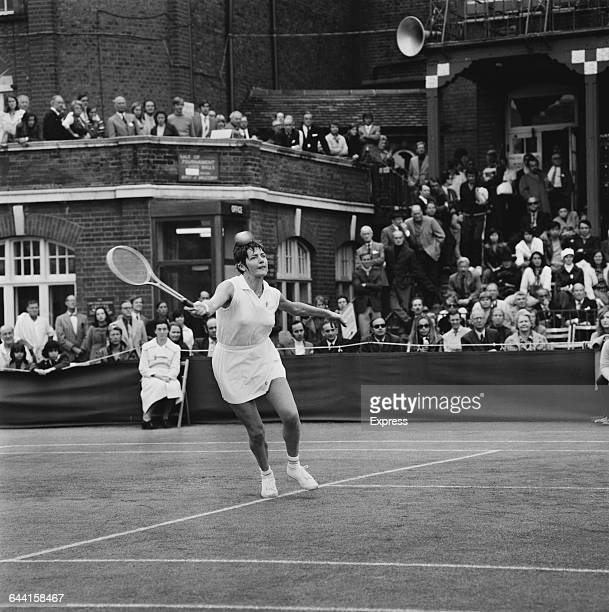 Australian tennis player Margaret Court beats Billie Jean King in the Queen's Club tournament London UK 19th June 1971