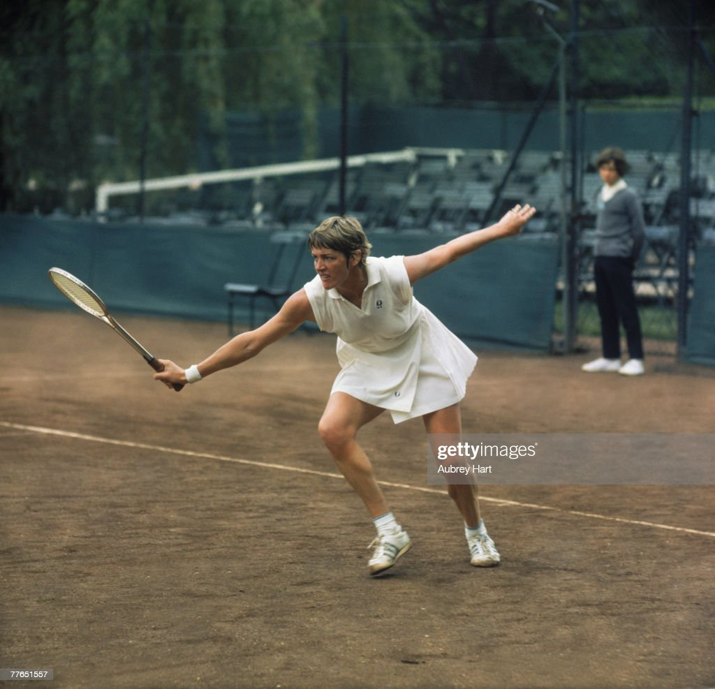Australian tennis player Margaret Court competing at the Queen's Club London circa 1970