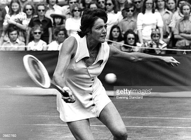Australian tennis player Margaret Court in action during a match Original Publication People Disc HC0454