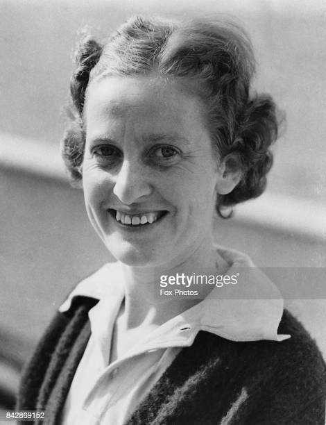Australian tennis player Nell Hall Hopman captain of the women's tennis team on board the 'SS Maloja' en route to England for the Wimbledon...