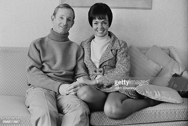 Australian tennis player Rod Laver and his wife Mary in London UK 20th October 1967