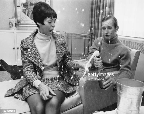 Australian tennis player Rod Laver with his wife circa 1975