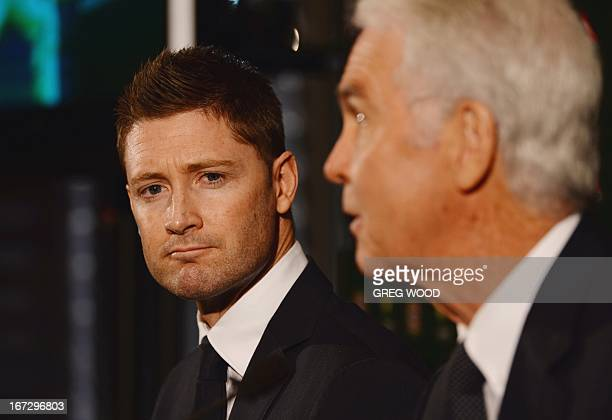 Australian Test cricket captain Michael Clarke and national selector John Inverarity announce the Australian squad for the upcoming Ashes cricket...