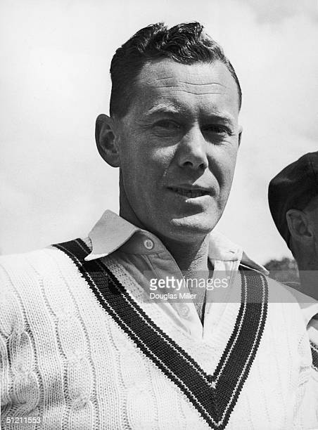 Australian test Cricketer Bill Brown at a match with Worcester 30th April 1948