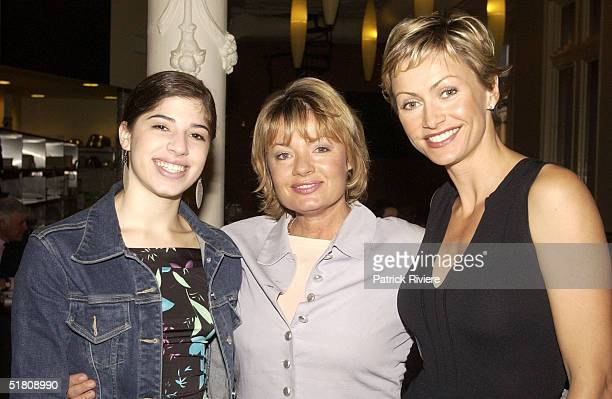18 APRIL 2002 Australian TV personality Nicky Buckley Paula Duncan and daughter Dr LeWinn's Private Formual skin care range hosting a 'mothers and...