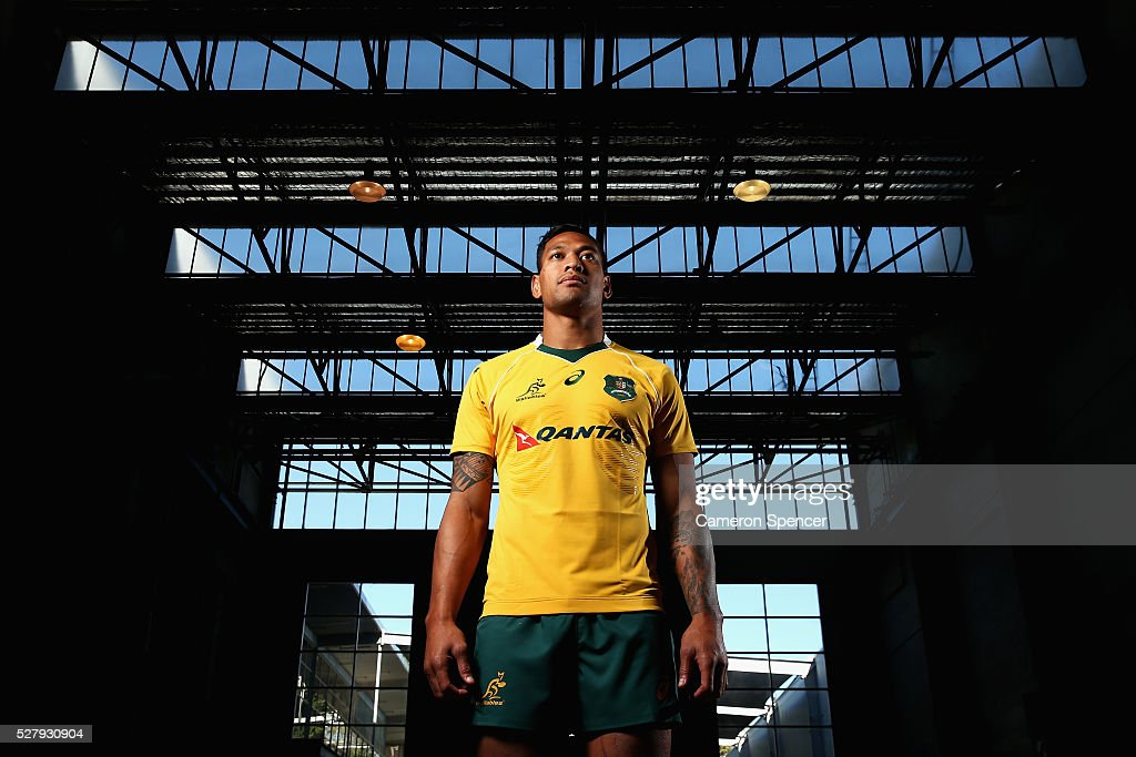 Australian Wallabies player Israel Folau poses during the Australian Wallabies jersey launch at All Sorts Sports Factory on May 4, 2016 in Sydney, Australia.