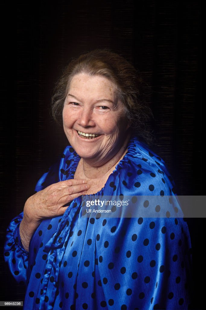 PARIS, FRANCE - APRIL 20. Australian writer Colleen McCullough poses in a hotel room to promote her book on April 20, 1997 in Paris,France.