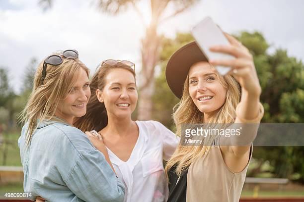 Australian Young Women Taking Selfies