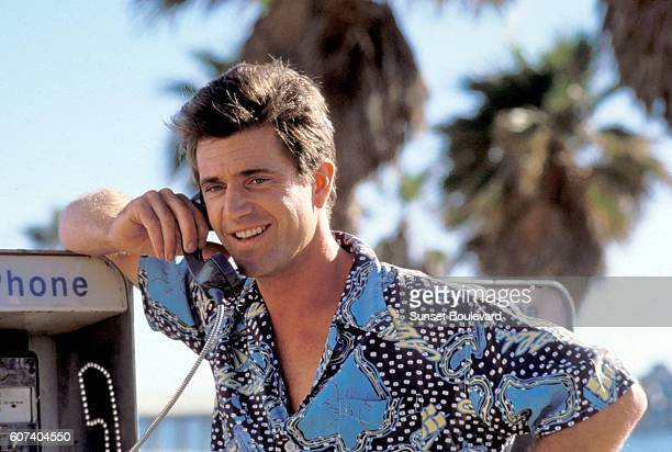 AustralianAmericana actor Mel Gibson on the set of Tequila Sunrise written and directed by Robert Towne