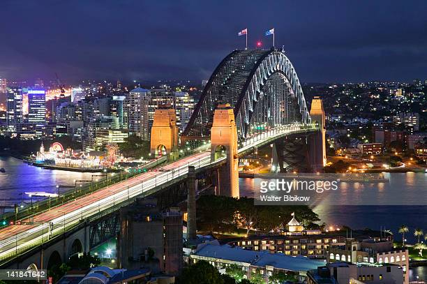 AUSTRALIA-New South Wales (NSW)-Sydney: Sydney Harbour Bridge from The Rocks Area / Evening