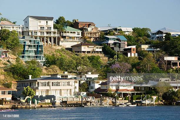 AUSTRALIA-Queensland-Brisbane: New Farm- View of houses from the suburb of Hawthorne along the Brisbane River