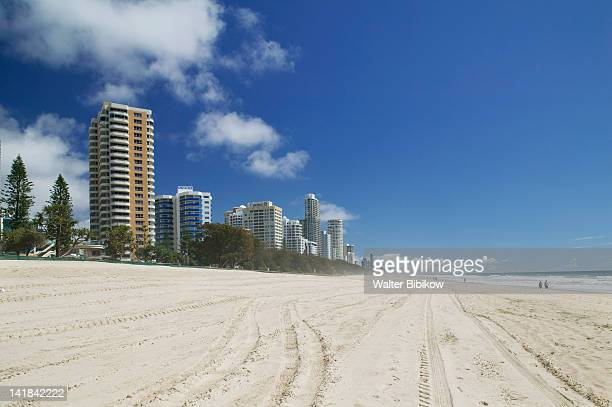 AUSTRALIA-Queensland-GOLD COAST-Surfer's Paradise: Highrise buildings along Surfer's Paradise Beach