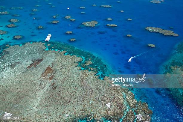 AUSTRALIA-Queensland-NORTH COAST-Cairns Area: The Great Barrier Reef- Aerial view of Moore Reef