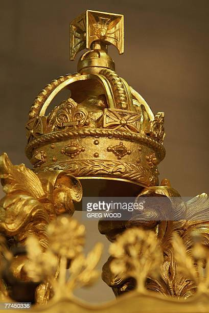 STORY 'Australiaroyalshistorycoach' by Madeleine Coorey The Imperial Crown carved from specially selected oak that came from Admiral Nelson's ship...