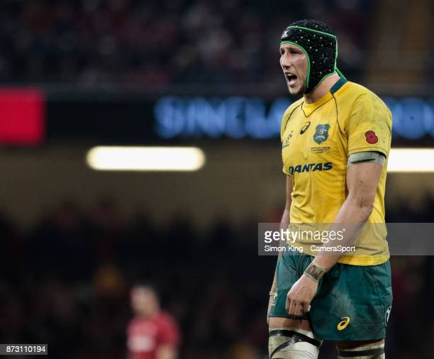Australia's Adam Coleman during the 2017 Under Armour Series match between Wales and Australia at Principality Stadium on November 11 2017 in Cardiff...