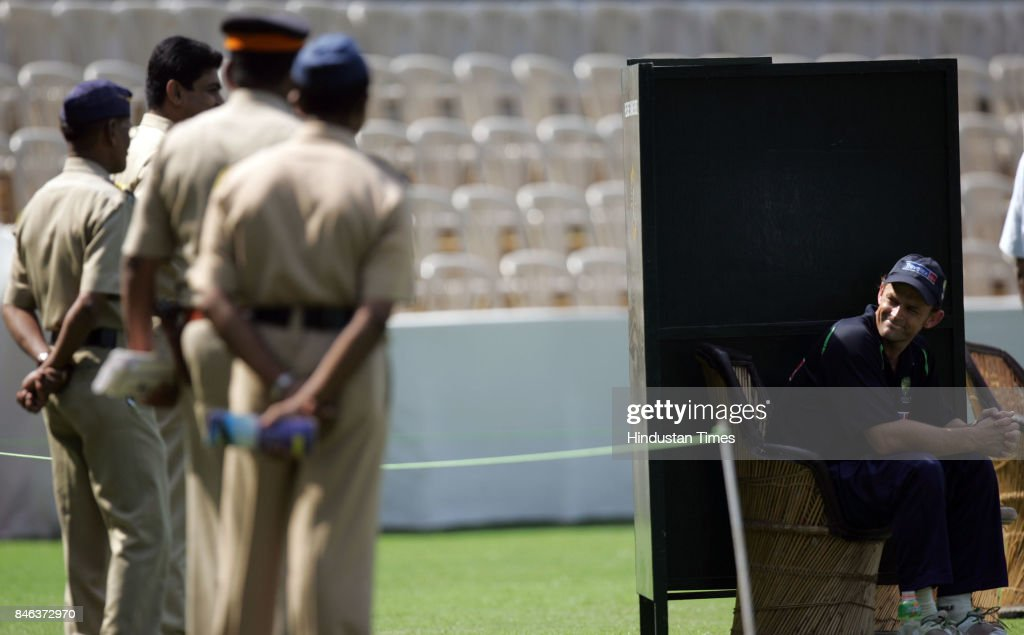 Australia's Adam Gilchrist at the parctice session during the ICC Champions Trophy on Friday.