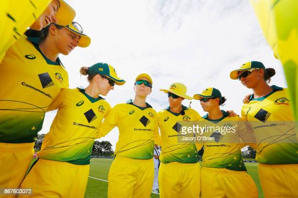 Australia's Alex Blackwell during the Women's International One Day match between Australia and England on October 29 2017 in Coffs Harbour Australia