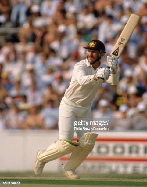 Australia's Allan Border batting during the 6th Ashes Test match between England and Australia at the Oval cricket ground in London England on the...