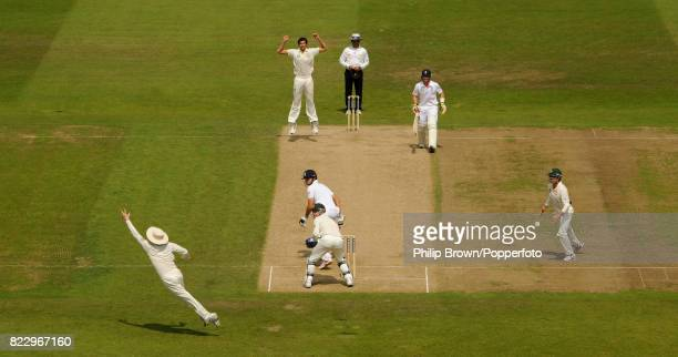 Australia's Ashton Agar takes his first Test wicket England captain Alastair Cook caught by Australia's Michael Clarke for 50 runs in the 1st Test...