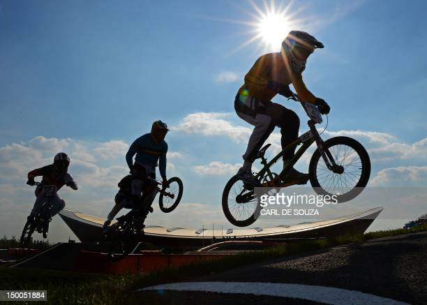 Australias Brian Kirkham R Leads Ride