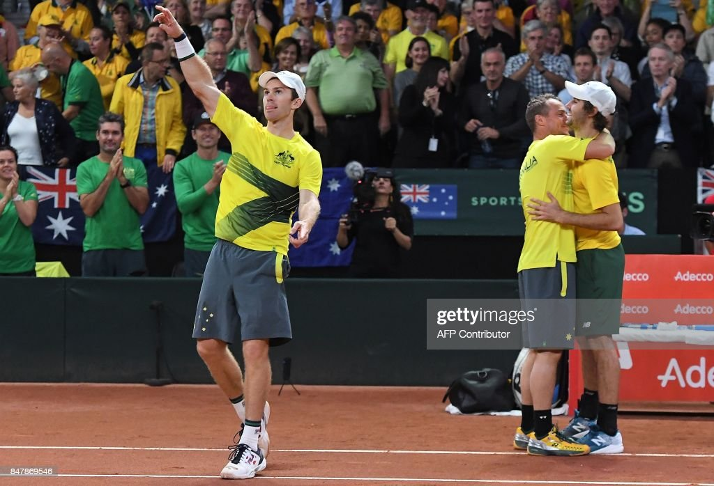 TENNIS-BEL-AUS-DAVIS-CUP : News Photo