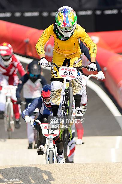 Australias Caroline Buchanan Rides During The BMX Cycling Womens Semifinals Event At London 2012 Olympic