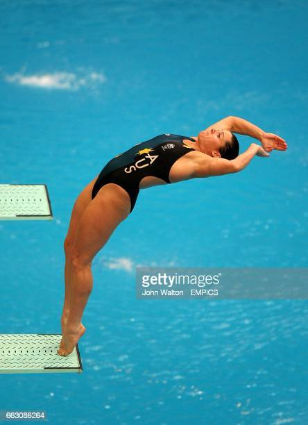 Australia's Chantelle Newbery during the Women's 3m Springboard Preliminary at the 2008 Olympic Games' National Aquatics Center in Beijing China