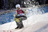 Australia's Dale BeggSmith competes in qualifying of the men's moguls at Rosa Khutor Extreme Park during the Winter Olympics in Sochi Russia Monday...