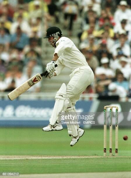 Australia's Damien Martyn in full flight on his way to his maiden Test century against England at Edgbaston