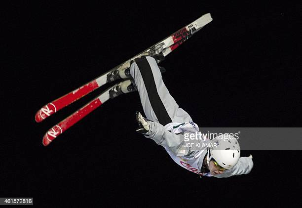 Australia's Danielle Scott competes during the Women's Aerials Finals during FIS Freestyle and Snowboarding World Ski Championships 2015 in...