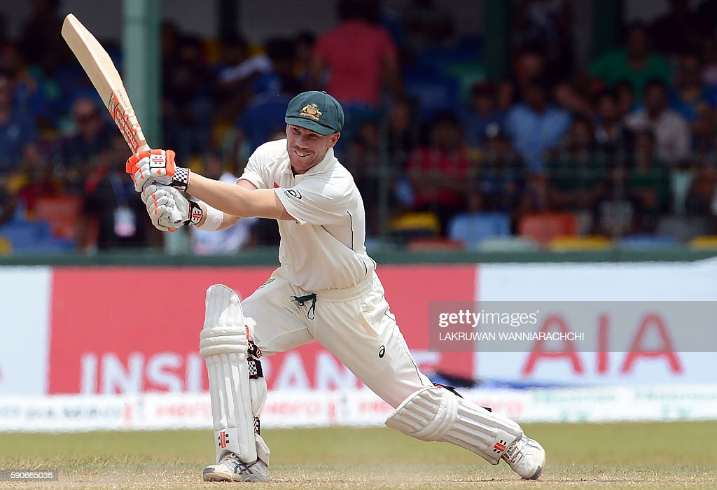 David Warner Australia vs Sri Lanka