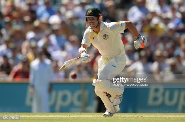 Australia's David Warner runs during the 3rd Ashes cricket Test match between Australia and England at the WACA cricket ground Perth Australia on the...