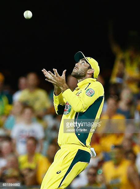 Australia's Glenn Maxwell takes the catch to dismiss mohammad amirduring game one of the One Day International series between Australia and Pakistan...