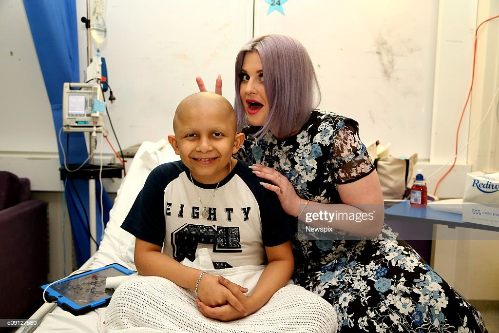 'Australia's Got Talent' judge <a gi-track='captionPersonalityLinkClicked' href=/galleries/search?phrase=Kelly+Osbourne&family=editorial&specificpeople=156416 ng-click='$event.stopPropagation()'>Kelly Osbourne</a> visits patient Ahmad Kamal at Sydney Children's Hospital, Randwick in Sydney, New South Wales.