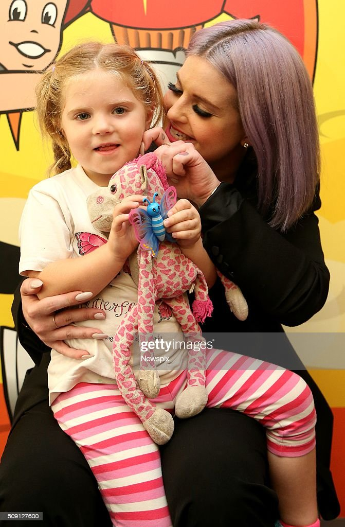 'Australia's Got Talent' judge <a gi-track='captionPersonalityLinkClicked' href=/galleries/search?phrase=Kelly+Osbourne&family=editorial&specificpeople=156416 ng-click='$event.stopPropagation()'>Kelly Osbourne</a> visits patient Charli Hewitt at Sydney Children's Hospital, Randwick in Sydney, New South Wales.