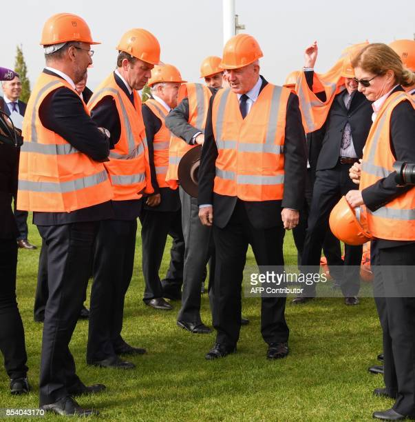 Australia's GovernorGeneral Sir Peter Cosgrove inspects the construction site of the future Sir John Monash Centre a memorial museum space financed...