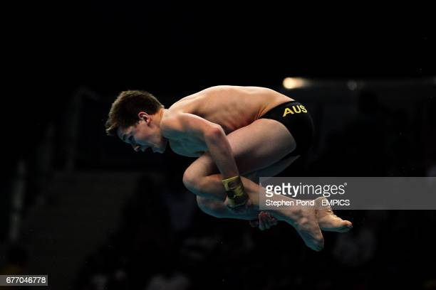 Australia's James Connor in action in the 10m Platform Diving on day ten of the 2010 Commonwealth Games at the Dr SPM Aquatics Complex in Delhi India