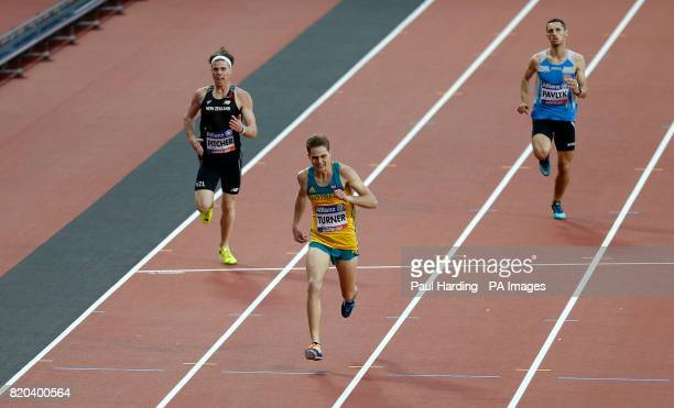 Australia's James Turner wins the Men's 400m T36 Final during day eight of the 2017 World Para Athletics Championships at London Stadium