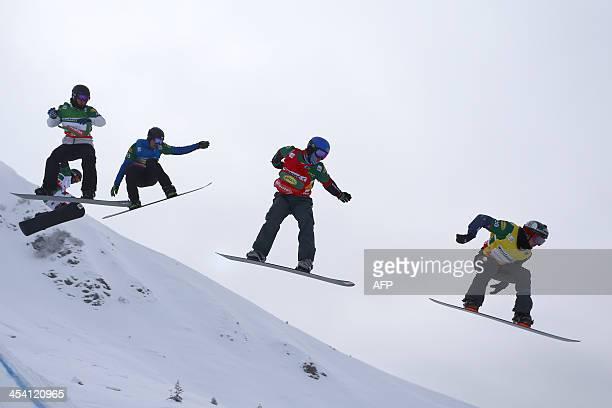 Australia's Jarryd Hughes Italy's Michele Godino Andorra's Luis Marin Tarroch USA's Mick Dierdorff and leading France's Xavier De le Rue compete...
