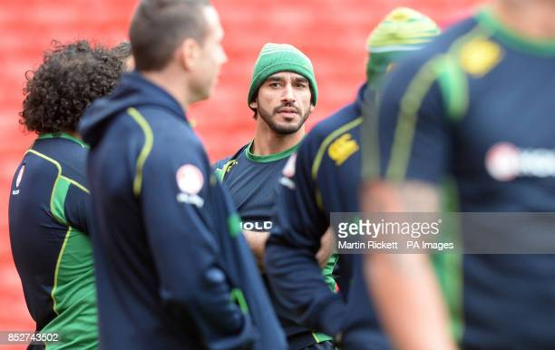 Australia's Johnathan Thurston during the captain's run at Old Trafford Manchester