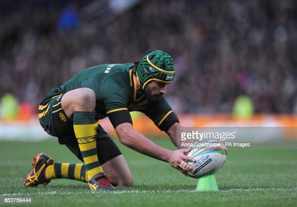 Australia's Johnathan Thurston during the Rugby League World Cup Final at Old Trafford Manchester